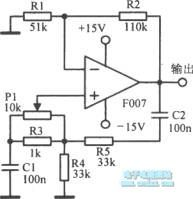 Low-cost Wien Bridge oscillator circuit diagram
