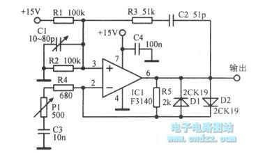Single-supply Wien Bridge oscillator circuit