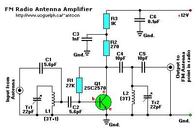 Active FM Antenna Amplifier