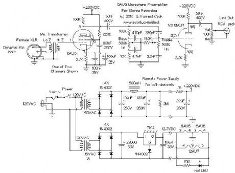 index amplifier circuit circuit diagram com vacuum tube stereo microphone preamp