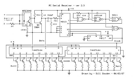 The PC Serial Port Receiver circuit