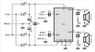30W Stereo power amplifier based TDA 1521