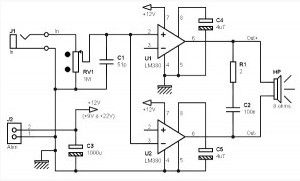 Audio Circuits Circuitos De Audio furthermore Showthread together with Index8 further 13 together with Metal Detector Circuits. on dual lm386 amplifier