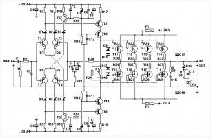 1000 watts power amplifier circuit diagram