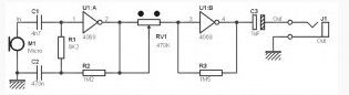 Mono Preamp based on CMOS IC CD4069