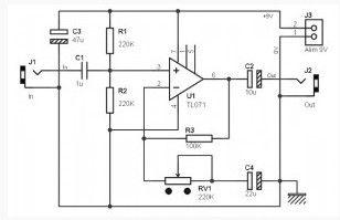guitar pre amplifier based tl071 amplifier circuit circuit diagram. Black Bedroom Furniture Sets. Home Design Ideas