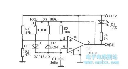 LED on -off time controlled oscillator