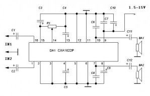 index 14 amplifier circuit circuit diagram seekic com headphone amplifier sony cxa1622p