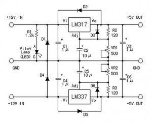 symmetric 12v to 5v converter power_supply_circuit circuitsymmetric 12v to 5v converter