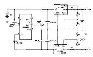 Power Supply Splitter 9V to ± 5V - Power_Supply_Circuit - Circuit