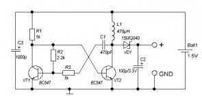 Voltage Converter from 1.5V to 3V