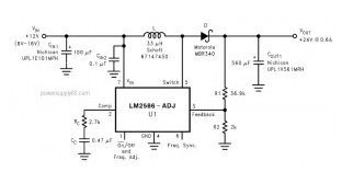 DC Voltage Doubler Circuit +12V to +24V using LM2586