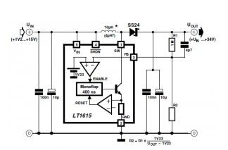 Step up DC / DC Converter with LT1615