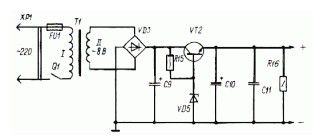 Simple power supply 5V, 0.5A