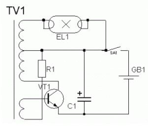 High-voltage power supply circuit for fluorescent light
