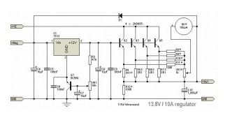 13.8V / 10A DC Regulator Circuit