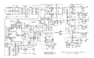 200W ATX Power Supply Circuit