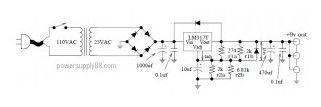 Super-Clean 9VDC Power Supply Circuit