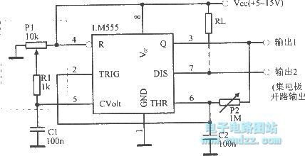 Wideband square wave oscillator with 50% duty cycle