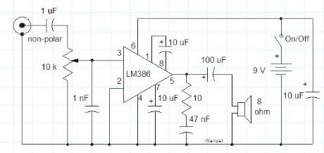 Simple LM386 Audio Amplifier