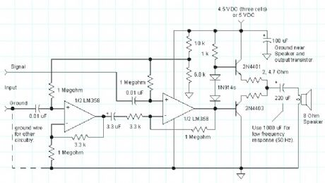 Op-Amp Audio Amplifier