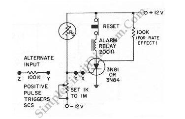 alarm control - control circuit - circuit diagram