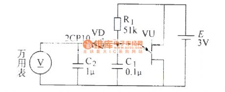 Single- junction transistor divider ratio measuring circuit