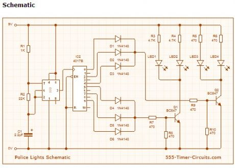 Index 7 led and light circuit circuit diagram seekic police lights circuit asfbconference2016 Gallery