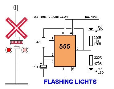 FLASHING RAILROAD LIGHTS Circuit