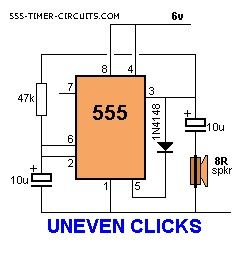 UNEVEN CLICKS Circuit