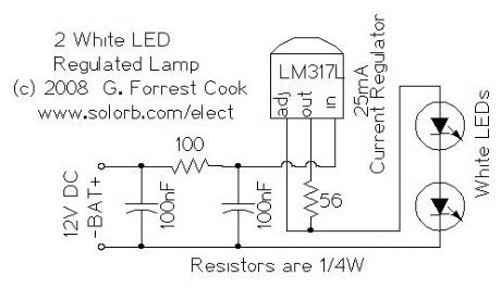 Regulated Dual White LED Lamp