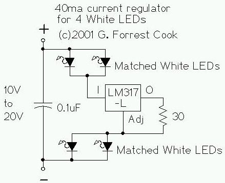 Seven Component Regulated LED Lamp