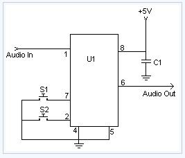 Digital Volume Control electronic circuit diagram