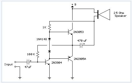 Improved 3 Transistor Audio Amp electronic circuit