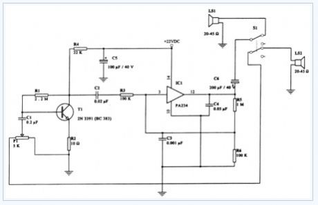 Intercommunication-intercom electronic circuit diagram