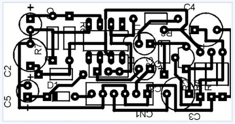 Low Impedance Microphone Amplifier electronic circuit diagram