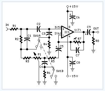 Automatic Loudness Control electronic circuit