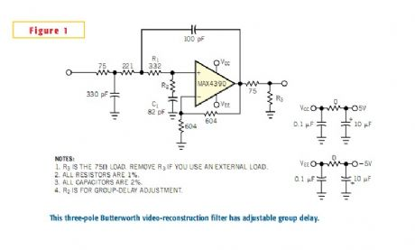 Butterworth filter has adjustable group delay
