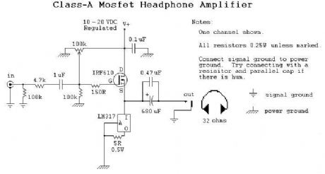 Class A Headphone Amplifier