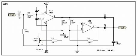 Simple Full Wave Rectifier and Preamp