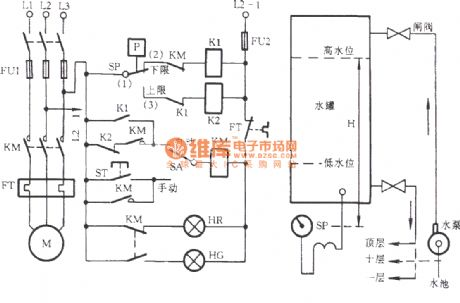 Electrical contacts controlled pump circuit 2