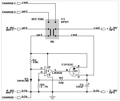 GPS mount power supply schematic.