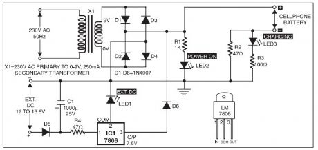 battery charger power supply circuit circuit diagram seekic com mobile phone battery charger