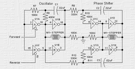 The BEAM Stepper drive circuit