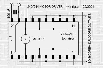 simple single-motor driver