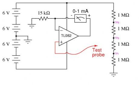 High-impedance voltmeter