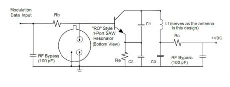 SAW-based transmitter design appnote from RFM