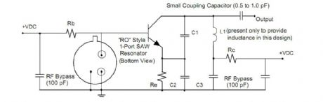 SAW-based transmitter design appnote from RFM 2