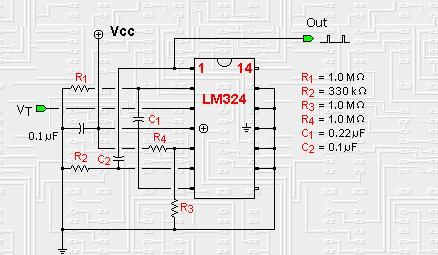 Op-amp based Nv nets