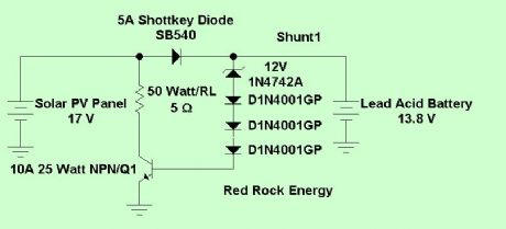 Simple Shunt Charge Controller